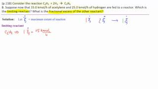 1.B Limiting Reactant-Fractional Excess