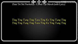 Dato 39 Sri Siti Nurhaliza Comel Pipi Merah with Lyrics Official Lyrics Video