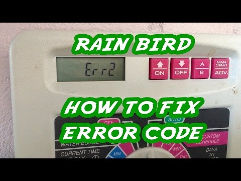 Rain Bird Error Message and How To Fix It by Replacing the Solenoid Vavle