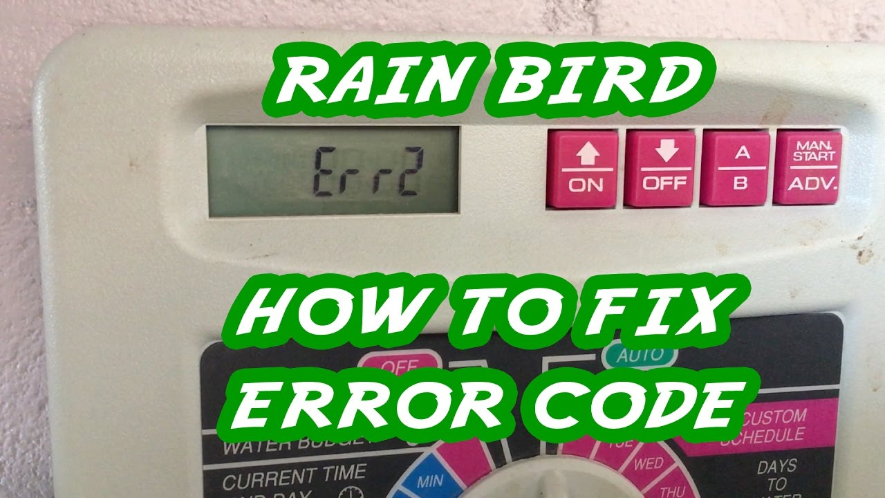 hight resolution of rain bird error message and how to fix it by replacing the solenoid valve