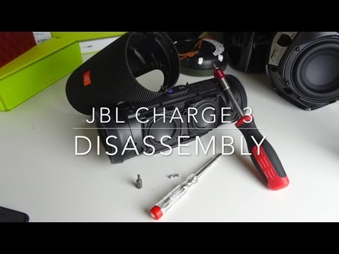 JBL Charge 3 - Disassembly (Taking off the cover)...