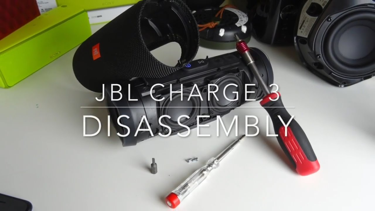 JBL Charge 3 - Disassembly (Taking off the cover)