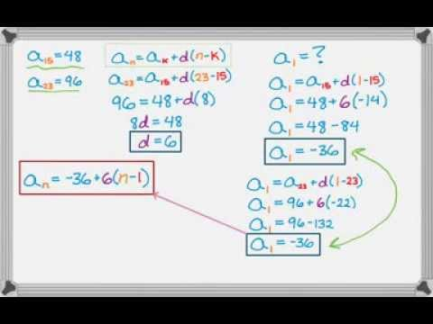 Arithmetic Sequences More Examples - YouTube