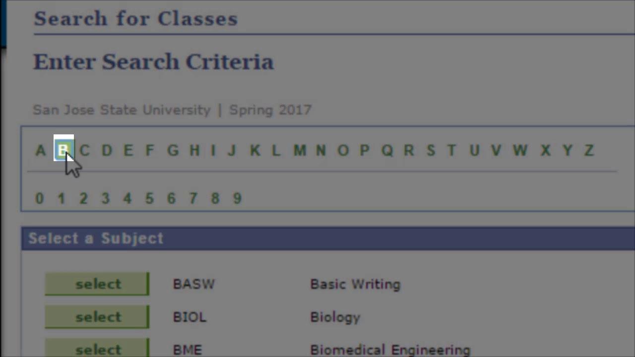 Sjsu Calendar Spring 2021 Register for Classes | Class Schedules
