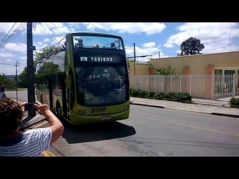 Riding the Tourism Line bus in Curitiba, Brazil