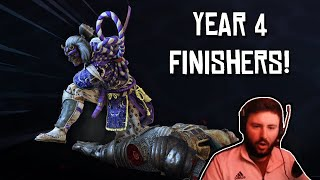 NEW FOR HONOR YEAR 4 FINISHERS REACTION!