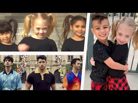 Jonas Brothers loved Everleigh & dance partner Diesel's dance battle video with Ava to Sucker!