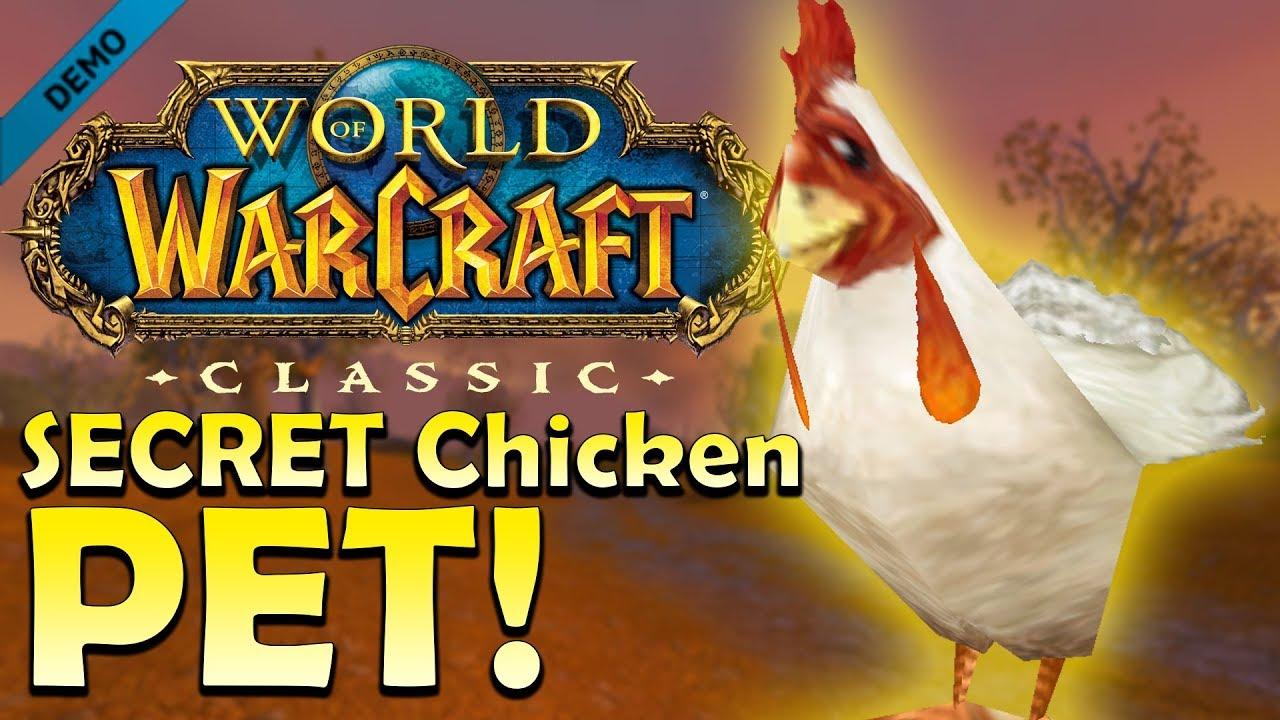 Secret Wow Classic Chicken Companion Pet Quest Guide Youtube