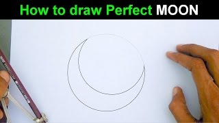 Learn to draw a perfect moon