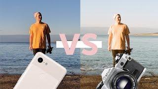 Pixel 3 Camera VS Canon AE-1   Analog 35mm Film Camera!