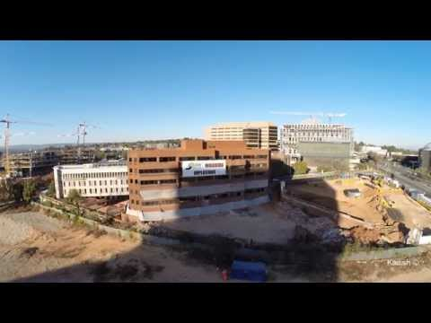 Drone video of building implosion in Sandton, Johannesburg (Watch in HD)