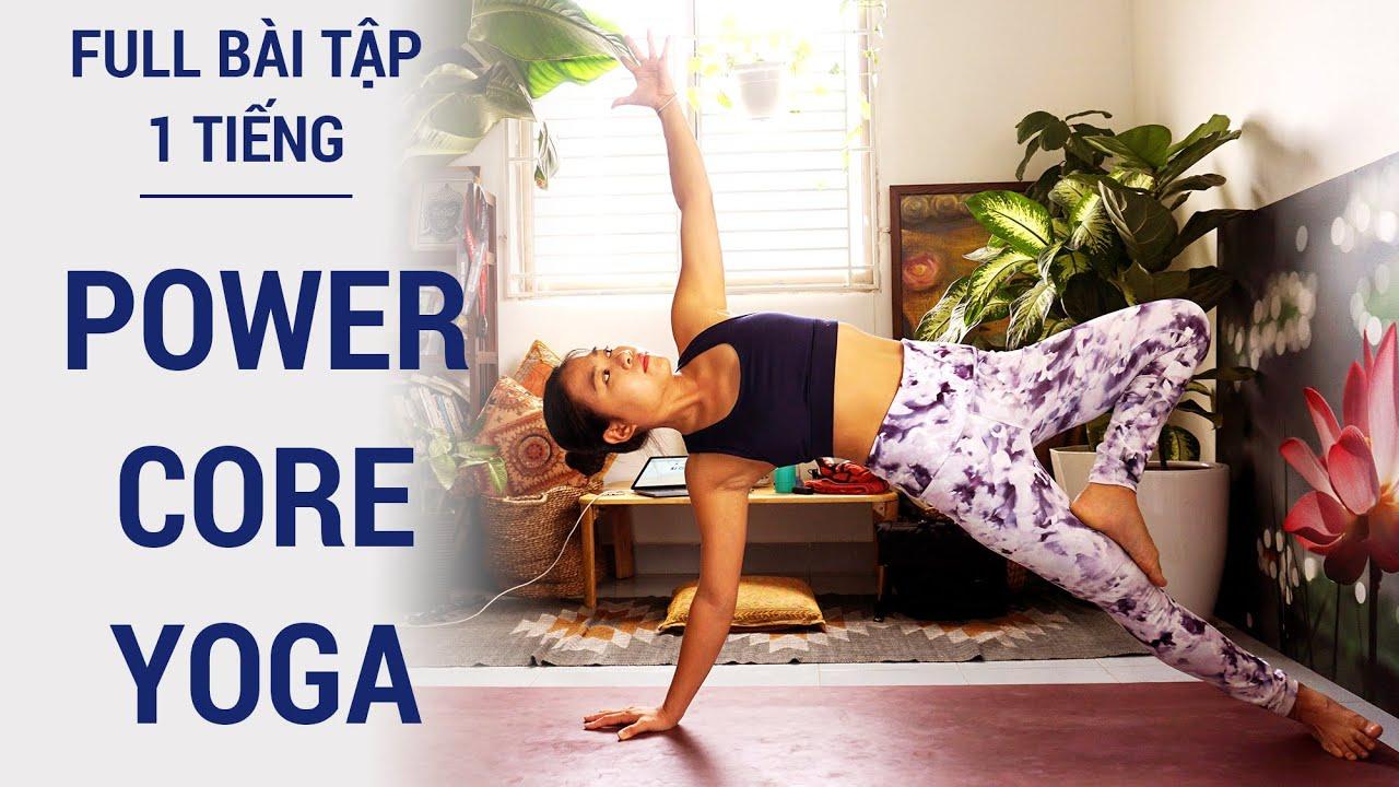 Bài tập yoga giảm cân, giảm mỡ toàn thân, săn chắc bụng đùi cánh tay (1h)