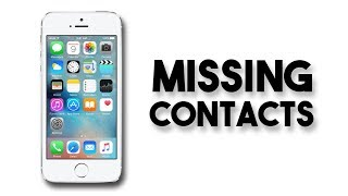 Missing Contacts on iPhone FIX (Contacts Disappearing iPhone)