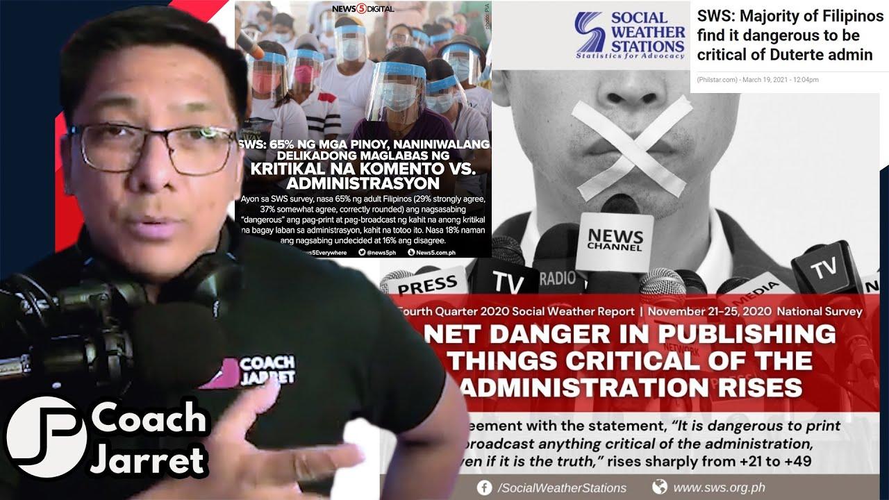 Download 65% NG PILIPINO TAKOT MAGSALITA LABAN SA ADMINISTRATION AYON SA SWS   LUMANG SURVEY NGAYON NILABAS?!
