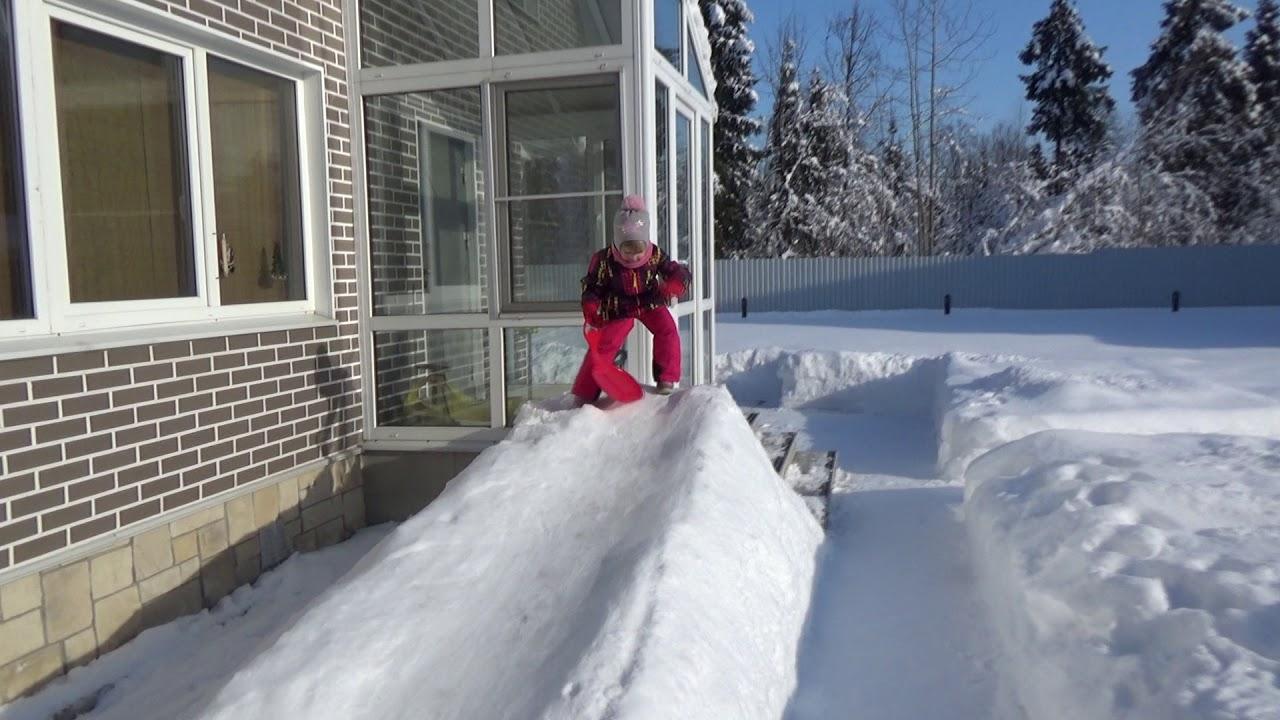 лена только делаем горку из снега фото обновления