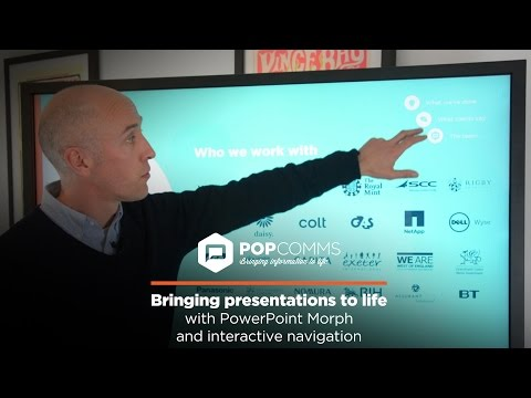 Creating an interactive experience with PowerPoint's Morph and interactive navigation