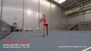 Paige Alter - Womens Tennis Recruit 2019