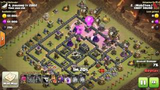SWAT SQUAD | Clash of Clans www.swatsquad.net | Nabzter TH9 lavaloon attack