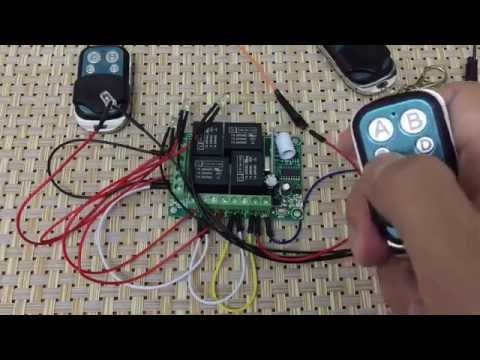 How to use KR1204 : 12v RF 4-Channel 433Mhz wireless Remote