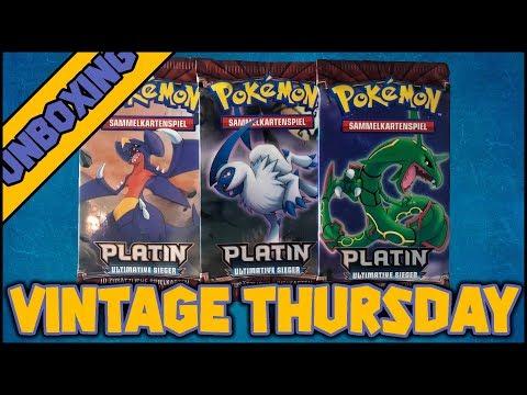 3 Booster Platin Ultimative Sieger - VintageThursday #34 (PokemonTCG Opening 19/035)