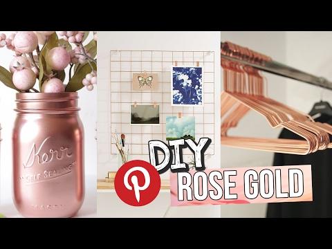 DIY -  DECORAÇÃO ROSE GOLD GASTANDO POUCO - PINTEREST! ♥