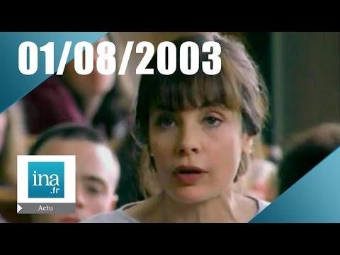 20h France 2 du 01 août 2003 - Mort de Marie Trintignant   Archive INA
