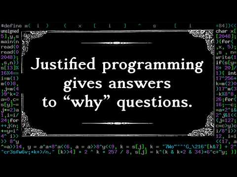 "Justified Programming — Reason Parameters That Answer ""Why"""