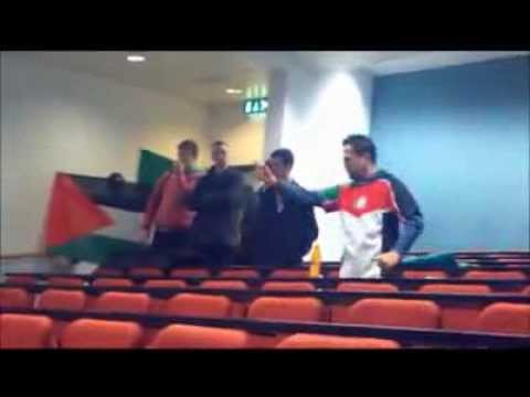 Low-Class BDS Protestors at National University of Ireland Galaway -- NUI Galaway