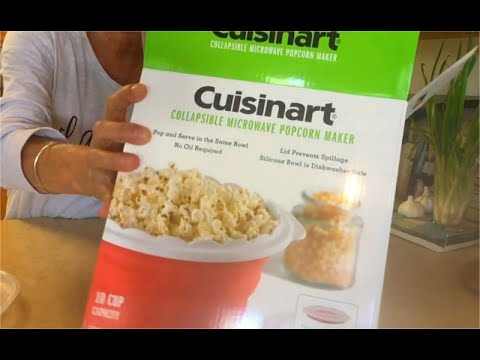 cuisinart collapsible microwave popcorn maker my first product review