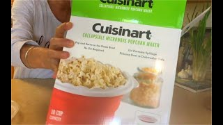 cuisinart collapsible microwave popcorn