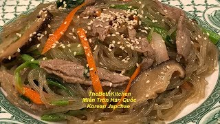 Japchae _ Korean Glass noodles with Beef and Vegetables