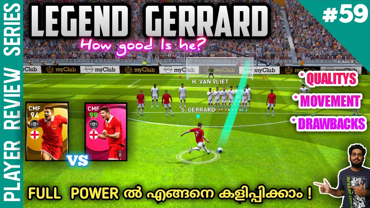 How Dangerous Is New Legend S.GERRARD In PES 2021 | Special  Quality & Style Of Play | Best Position