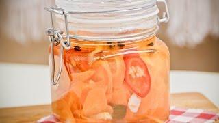 Морковь на зиму. Маринованная морковь на зиму. Рецепт консервирования моркови.