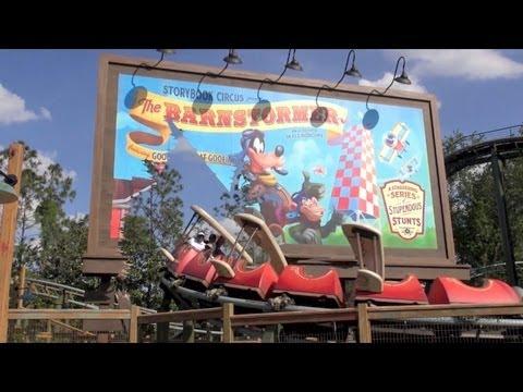 The Barnstormer Roller Coaster Front Row POV Magic Kingdom New Fantasyland Walt Disney World