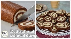 Ohne Backofen: Bountyrolle / Kekse ohne Backen - Studentenrezept / Kokosrolle mit Schokokeksen