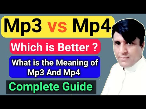 Watch This Before Download Mp3 And Mp4 |  what is the difference between mp3 and mp4 | Mp3 Vs Mp4