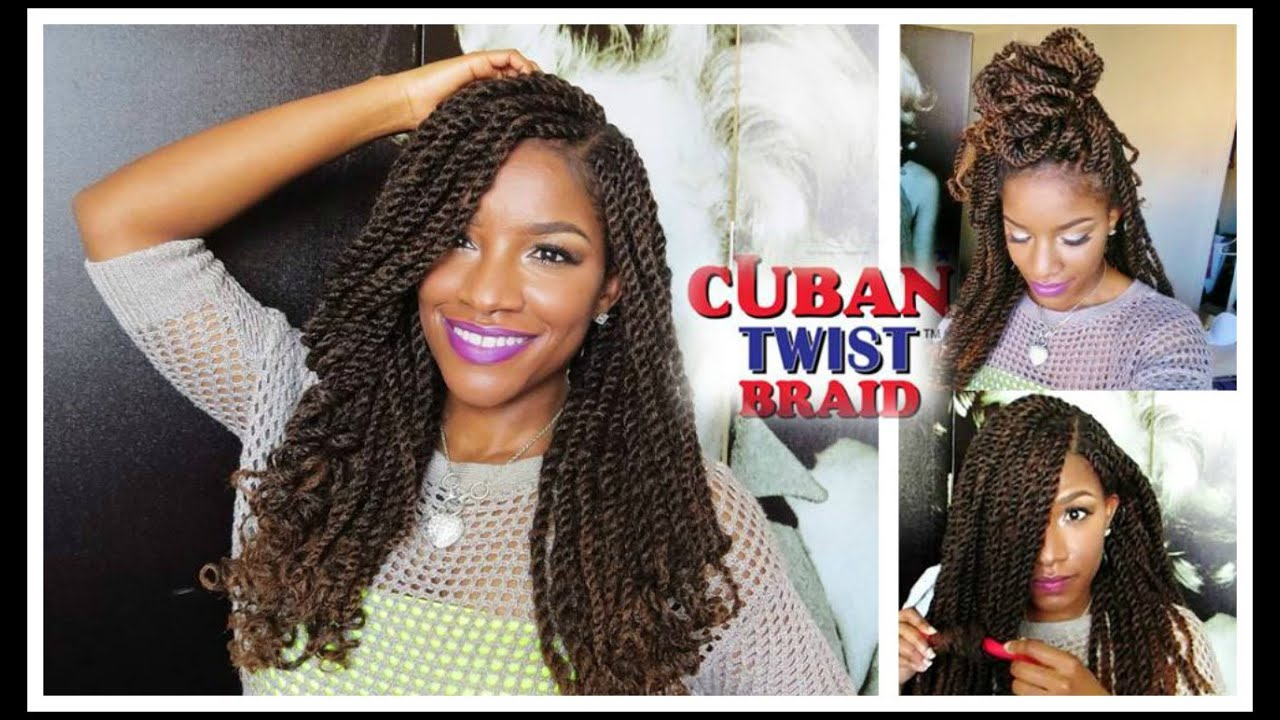 Tutorial & Styling w/ Freetress Equal Cuban Twist Hair - YouTube