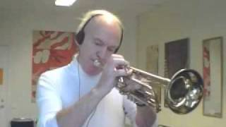 funky trumpet in acapella harmon mute dress