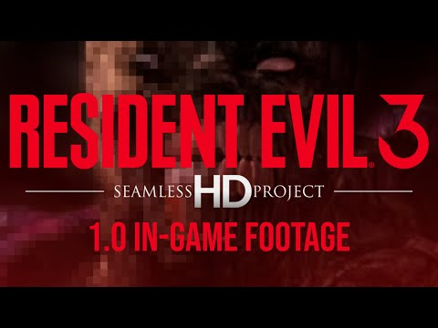 Resident Evil 3 - Seamless HD Project - 1.0 In-game footage (Dolphin HD Texture pack)
