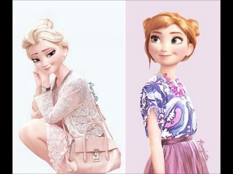 Disney Princess   Then And Now