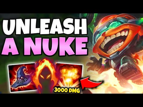 LOOKOUT! MEGA INFERNO BOMB WILL VAPORIZE YOU 100-0! (NUCLEAR ZIGGS) - League Of Legends