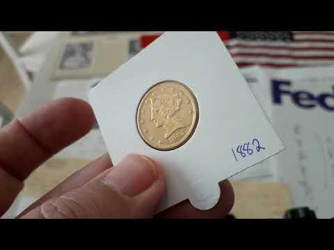 5 Dollars 1882 Gold Liberty / Coronet Head - Half Eagle