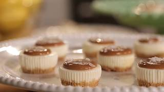 Salted Caramel Cheesecake Minis Recipe   PHILADELPHIA Cream Cheese