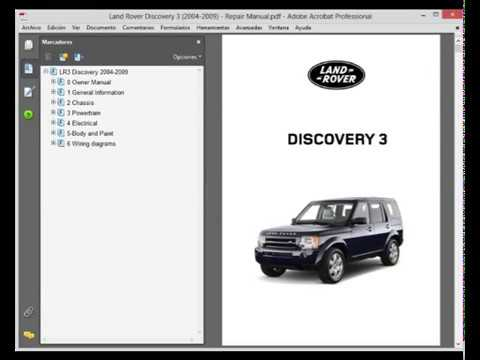 land rover discovery 3  service manual  wiring diagram  owners manual