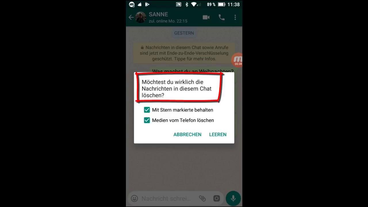 WhatsApp Grundlagen: #30 Chatverlauf leeren / löschen - YouTube