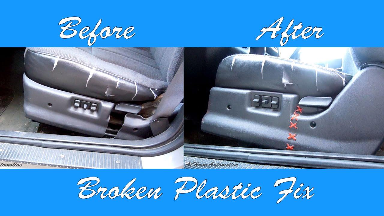 Fix Cracked Vinyl/Plastic Fast And Easy With Zip Ties!