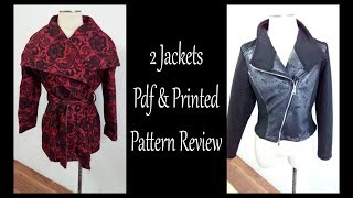 2 Jackets PDF & Printed Pattern Review