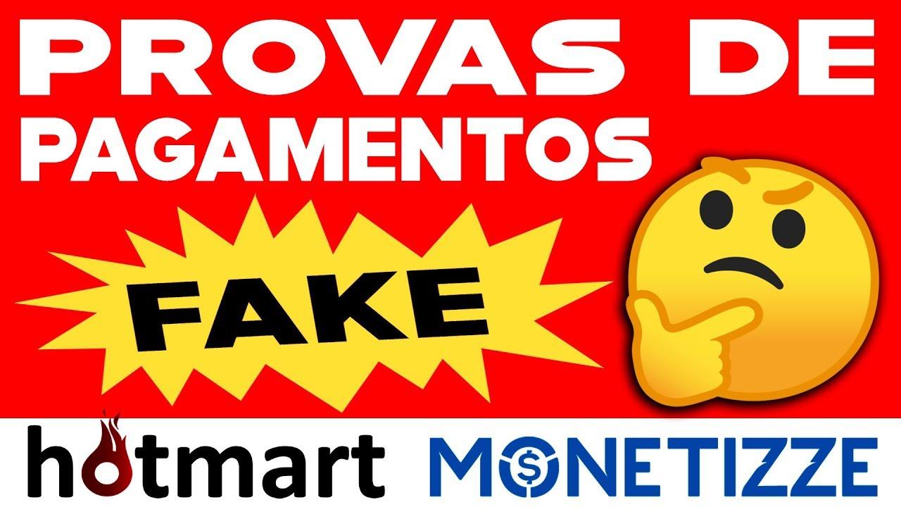 prova de pagamento falso - hotmart monetizze é fake