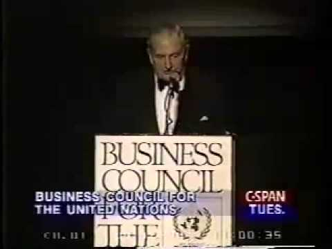 David Rockefeller Speaks about Human Population Control - MUST WATCH