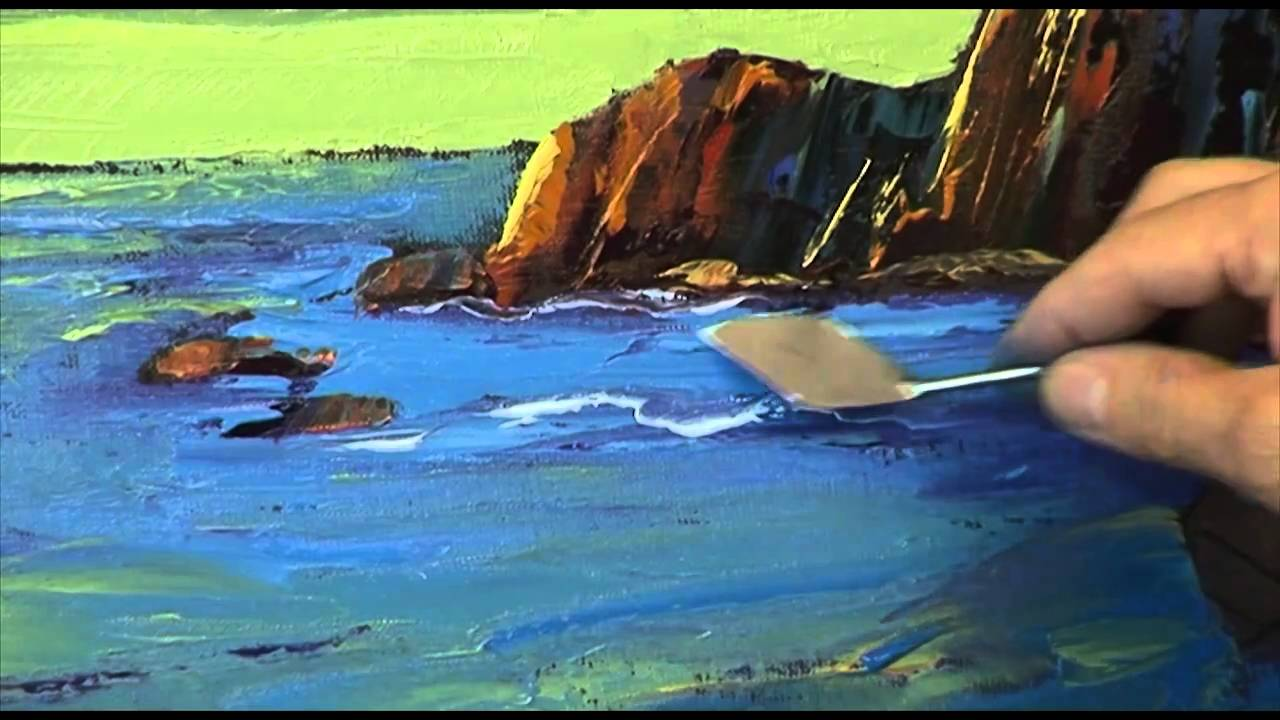 l ecran creatif peindre au couteau 04 la marine guy covelli